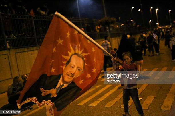 On the 3rd anniversary of the 15 July military coup, citizens celebrated their victory against the coup at Istanbul airport, Turkey, on 15 July 2019.