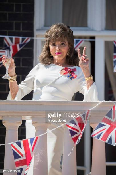On the 75th anniversary of VE Day Dame Joan Collins leads a 'Nation's Toast' on behalf of the women of the nation who sacrificed so much for their...