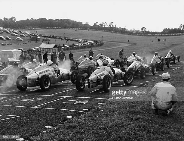 On the anticlockwise grid for the start of the Brands Hatch 500cc Formula 3 Race on 25 June 1950 at the Brands Hatch Circuit Fawkham United Kingdom