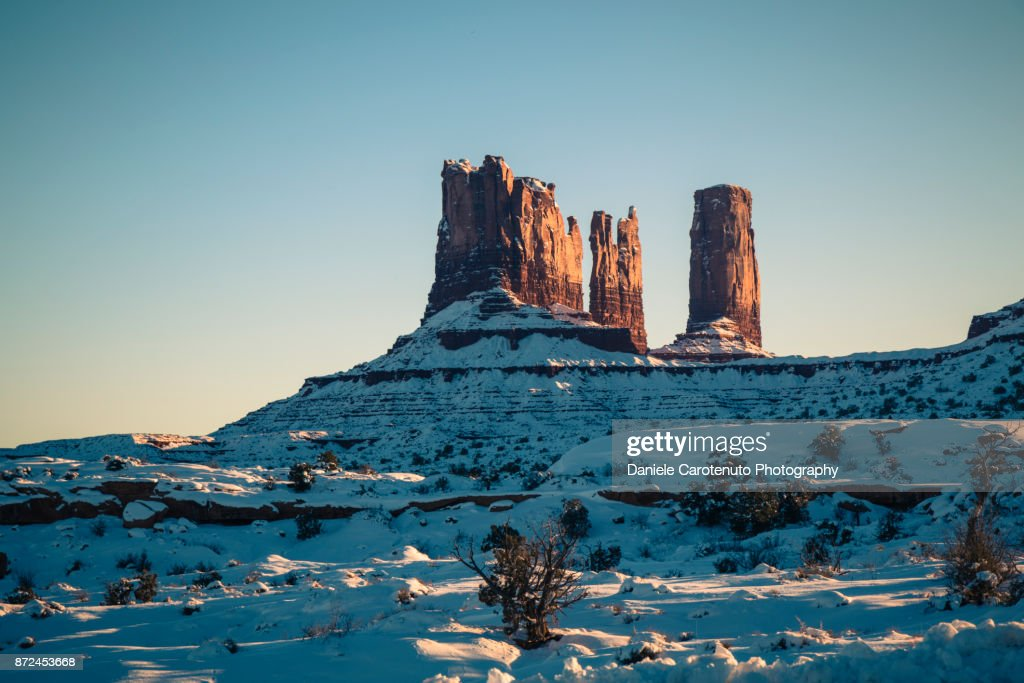 On the back of Monument Valley : Stock Photo