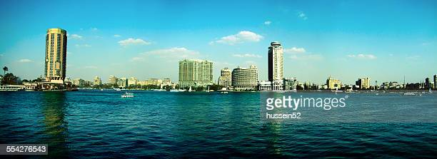 on the banks of the cairo nile - hussein52 stock photos and pictures