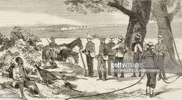 On the banks of the Tugela river the relief of Ekowe AngloZulu War illustration from the magazine The Graphic volume XIX no 495 May 24 1879