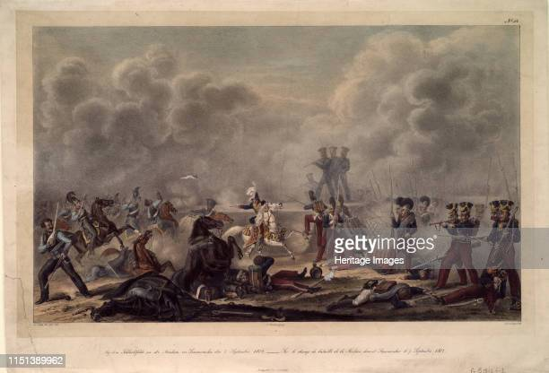 On the battlefield of Borodino before the village Semenovsky, 1820s. From a private collection. Artist Faber du Faur, Christian Wilhelm, von .