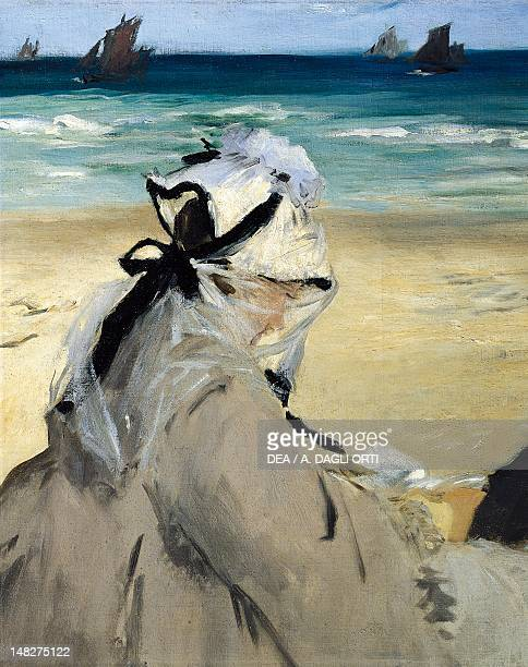 On the Beach by Edouard Manet oil on canvas 60x73 cm Detail Paris Musée D'Orsay