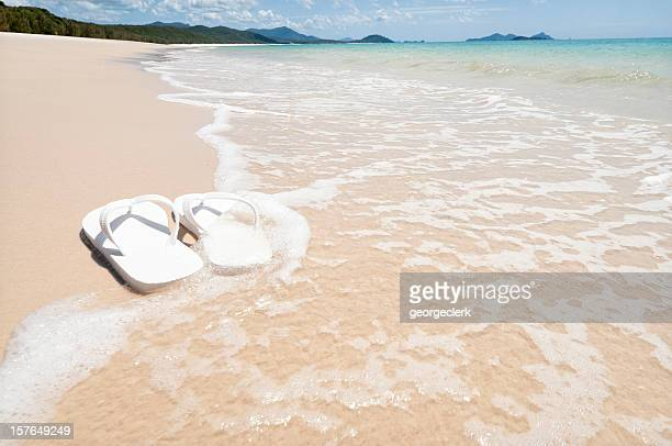 am strand - whitehaven beach stock-fotos und bilder