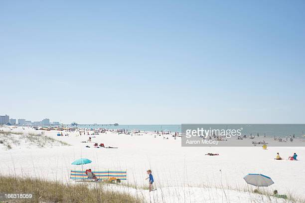 on the beach - clearwater beach stock pictures, royalty-free photos & images
