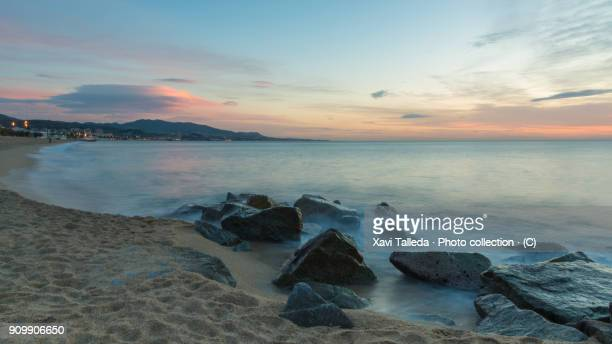 on the beach - maresme stock photos and pictures