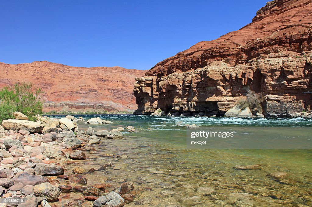 On the bottom of Marble Canyon : Stock Photo