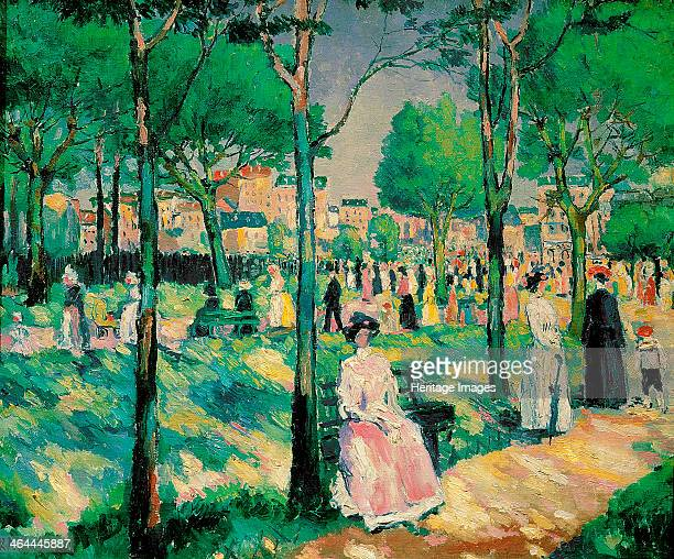 'On the Boulevard', 1903. Found in the collection of the State Russian Museum, St Petersburg.