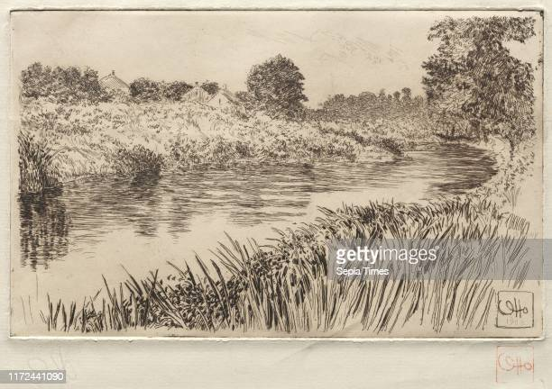 On the Bronx, 1906. Otto H. Bacher . Etching.