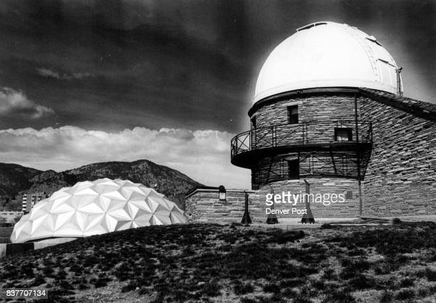 On The CU Compus' Fiske Planetarium left and Sommers Bousch Observatory Credit Denver Post