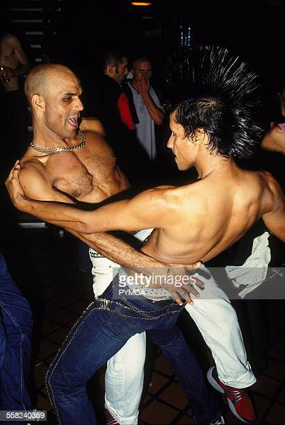 On the dancefloor at Trade Turnmills London September 2001