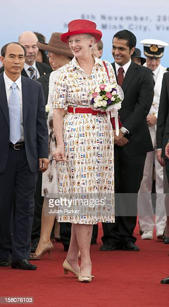 On The Danish State Visit To Vietnam Queen Margrethe And Crown Princess Mary Of Denmark Visit To Maersk Near Ho Chi Minh City In Vietnam And Launch A...