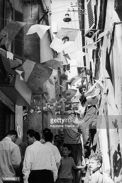 On The Day After The Referendum On Autodetermination The Casbah Of Algiers Was Celebrating
