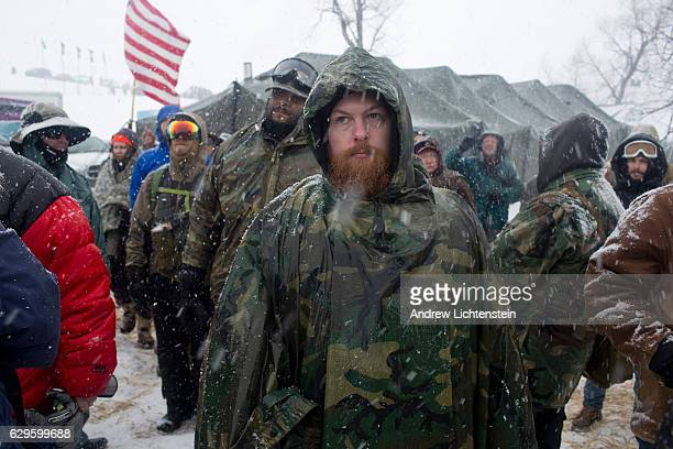 On the day of a government order to vacate the area hundreds of United States military veterans vow to defend the Standing Rock protest camp and...