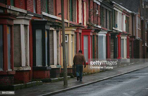 On the day that Britian officially enters a recession a man makes his way home on Gladstone Road where 99 percent of the homes are derelict on...