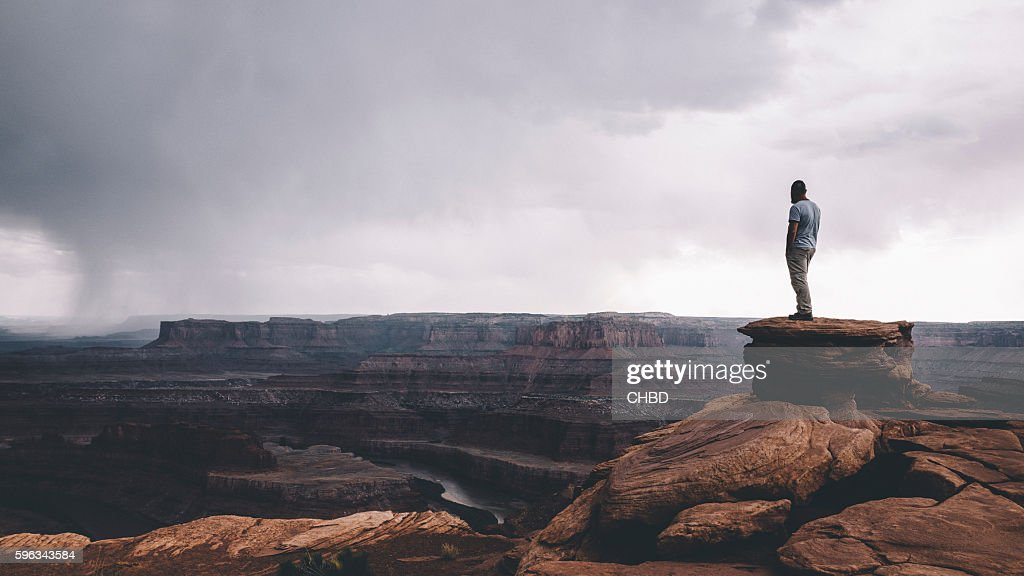 On the edge of Canyonlands : Stock Photo