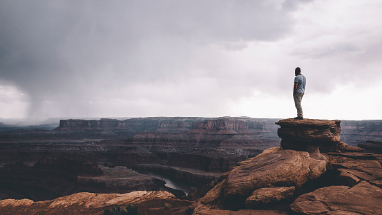 On the edge of Canyonlands 596343584