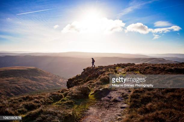 on the edge - brecon beacons stock pictures, royalty-free photos & images