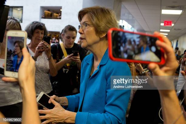 On the eve of a Senate vote to confirm Brett Kavanaugh as the next Supreme Court justice Senator Elizabeth Warren offers support to those opposing...