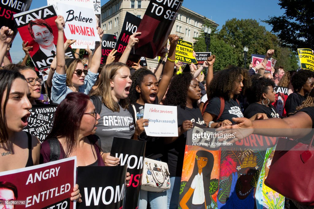 Protesting Kavanaugh's nomination to the Supreme Court : News Photo