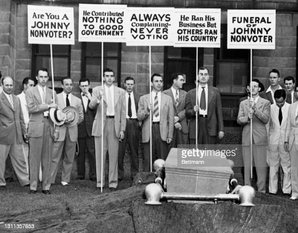 """On the eve of elections in Virginia for the Senate and Congress , Jack Fishwix and his """"Get Out The Vote"""" committee staged a smock funeral for..."""