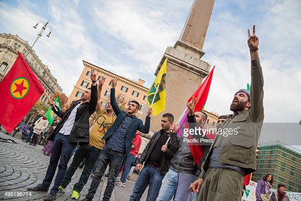 On the eve of parliamentary elections in Turkey the city of Rome organizes a demonstration for peace and democracy against the massacres of state in...