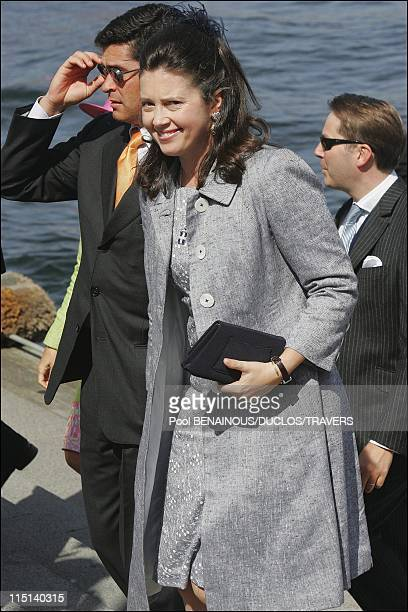 On the eve of Prince Frederik and Mary Donaldson's wedding after lunch on the Royal Yacht in Copenhagen Denmark on May 13 2004 Carlos Morales and...