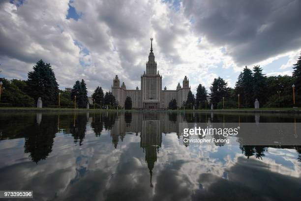 On the eve of the World Cup a general view of Moscow State University on June 13 2018 in Moscow Russia On the eve of the first game of the World Cup...