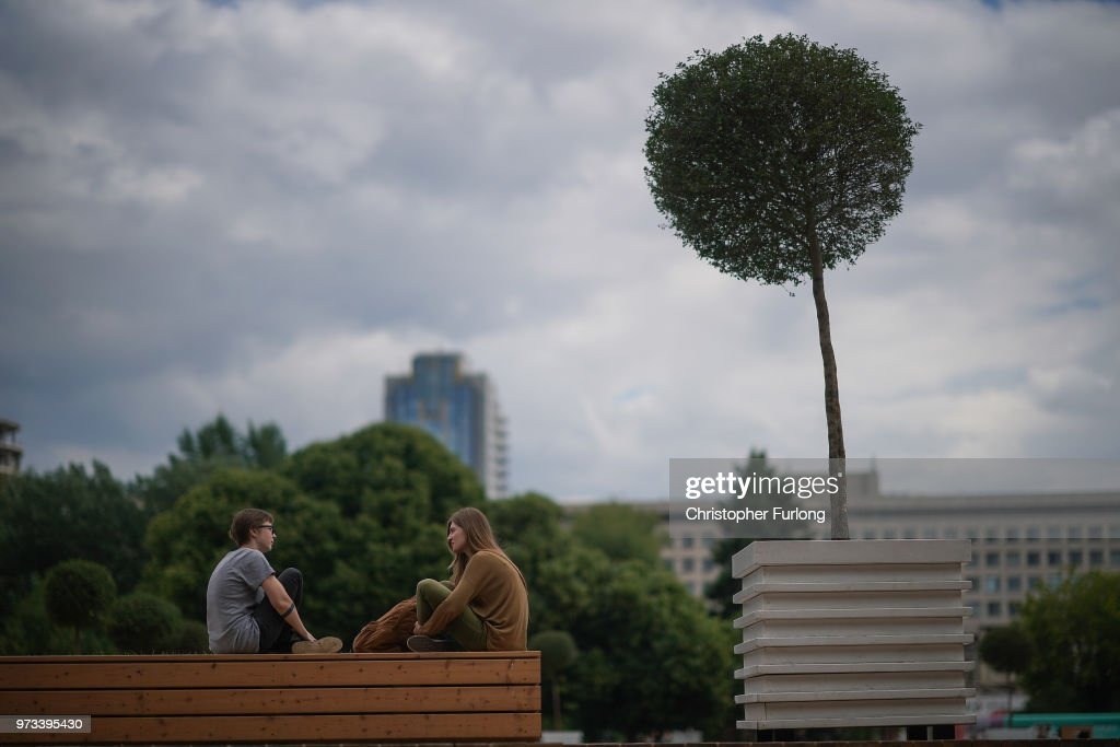 On the eve of the World Cup people relax and enjoy the warm weather in Gorky Park, on June 13, 2018 in Moscow, Russia. On the eve of the first game of the World Cup it was announced that the 2026 World Cup will be held in the United States, Canada and Mexico. FIFA expects more than three billion viewers for the World Cup which begins tomorrow.