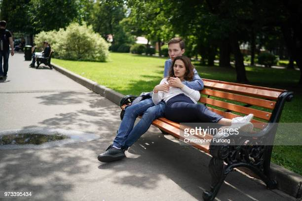 On the eve of the World Cup people relax and enjoy the warm weather in Gorky Park on June 13 2018 in Moscow Russia On the eve of the first game of...