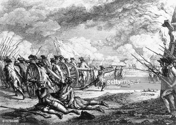 On the evening April 19 British troops marched from Boston to Concord, and were met at Lexington by American minutemen in the first battle of the...