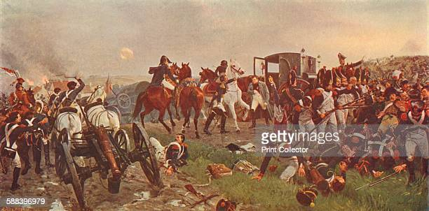 On the Evening of the Battle of Waterloo' 1879 Napoleon preparing to leave the battlefield From Cassell's Illustrated History of England Vol V Artist...