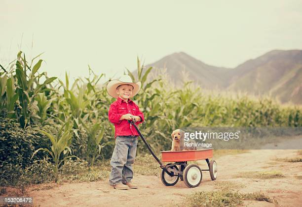 on the farm - toy wagon stock photos and pictures