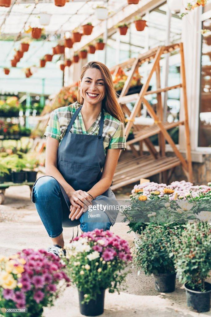Auf dem Blumenmarkt : Stock-Foto