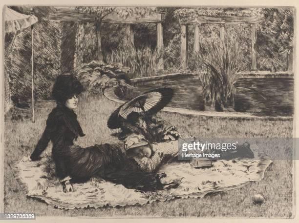 On the Grass, 1880. Artist James Tissot.