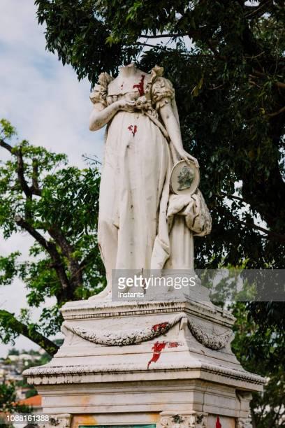 por motivos de la savane parque en fort-de france, fue erigida una estatua de mármol de carrara en 1859, pero esa representación de josephine bonaparte, esposa de napoleón 1, fue decapitado en 1991. - decapitado fotografías e imágenes de stock