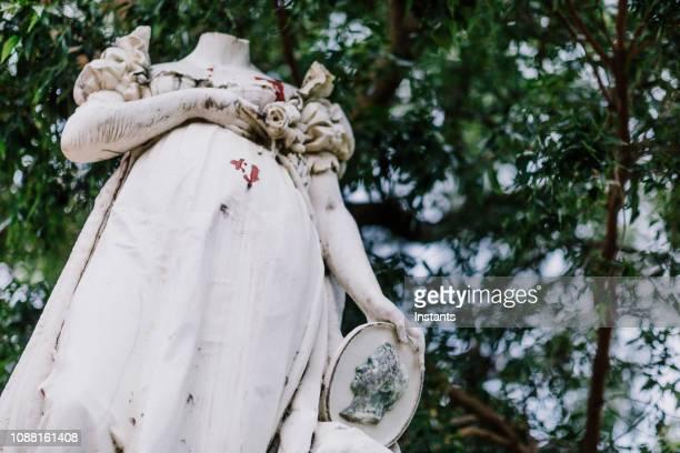 auf dem gelände la savane park in fort-de-france, errichtet eine carrara marmor statue im jahre 1859 aber, dass die vertretung von josephine bonaparte, ehefrau von napoleon 1., wurde im jahr 1991 enthauptet. - vandalismus stock-fotos und bilder
