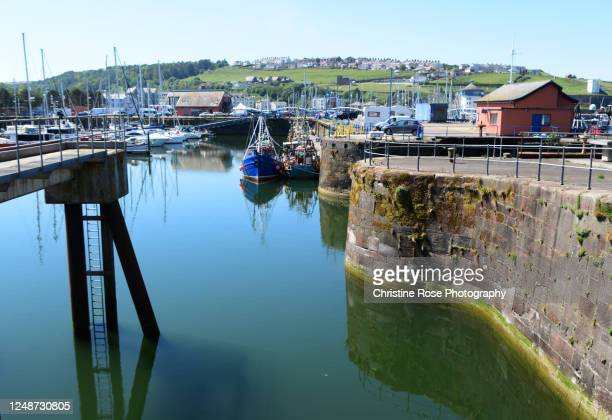 on the harbour - whitehaven cumbria stock pictures, royalty-free photos & images