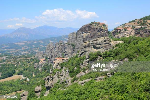 on the hill - thessaly stock pictures, royalty-free photos & images