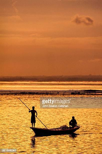 On the lagoon at sunset