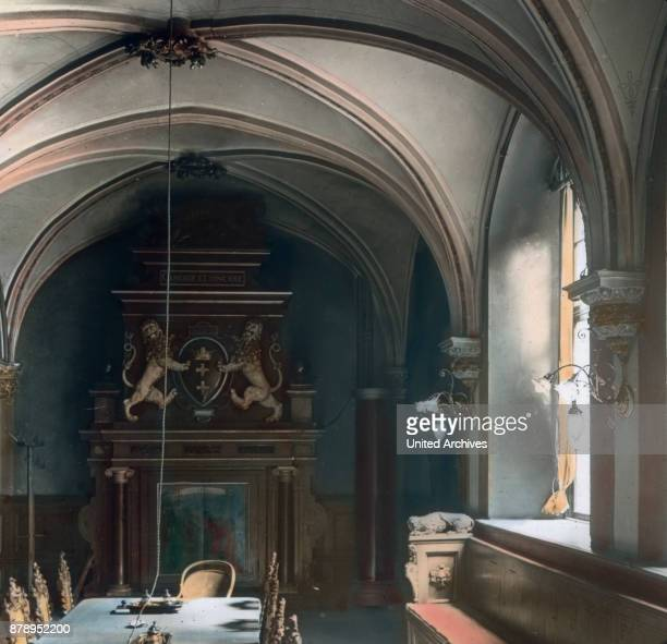 On the lower side of the vestibule is the white hall serving as the meeting room of the City Council It is rebuilt in the last century The beautiful...