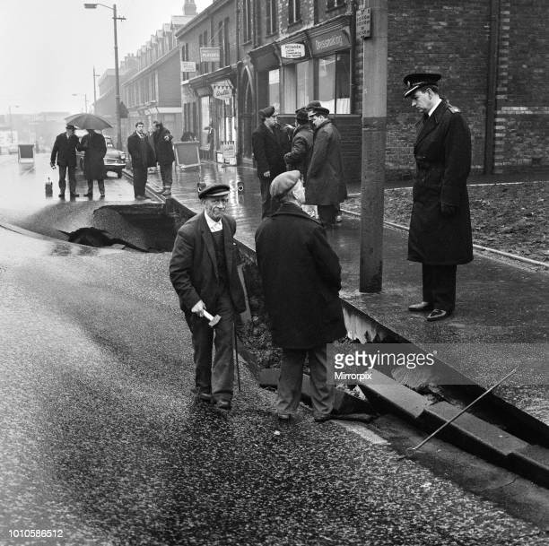 On the main road from Manchester to Rochdale, forty feet of the road disappeared. It sank, leaving a large hole along a stretch which normally...