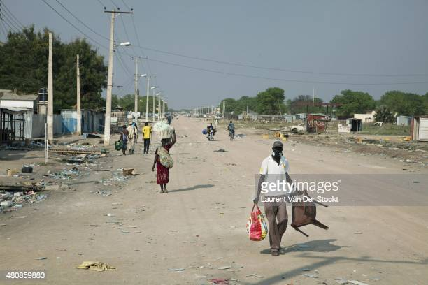 On the main road Very few inhabitants stayed in the plundered and destroyed center of Bor Photograph Laurent Van der Stockt/Edit by Getty Images
