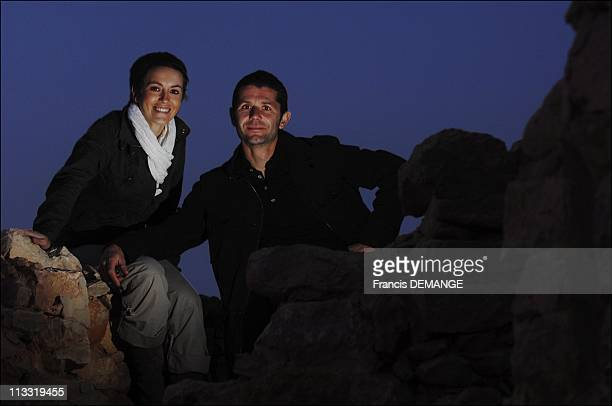 On The Marches Of The Show 'Echappees Belles' In Ksar Ghilane Tunisia On March 16 2007 Stephane Bouillaud and Sophie Jovillard animators of the show...