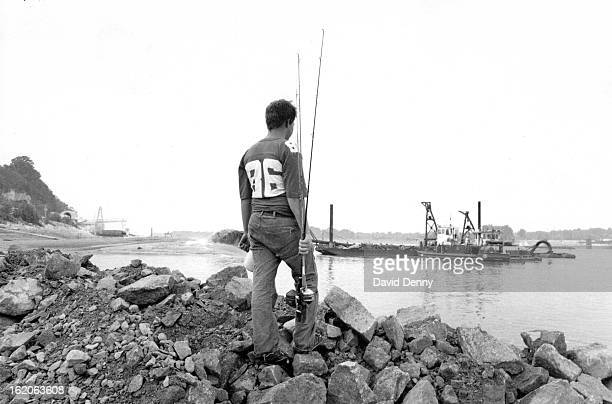 JUN 30 1988 JUL 3 1988 On the Mississippi River at St Genevieve about an hour south of St Louis Timothy Crump of nearby Flat RiverMO prepares to do a...