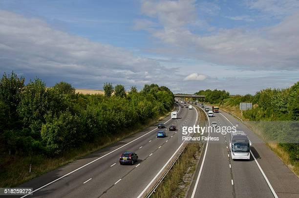 On the motorway