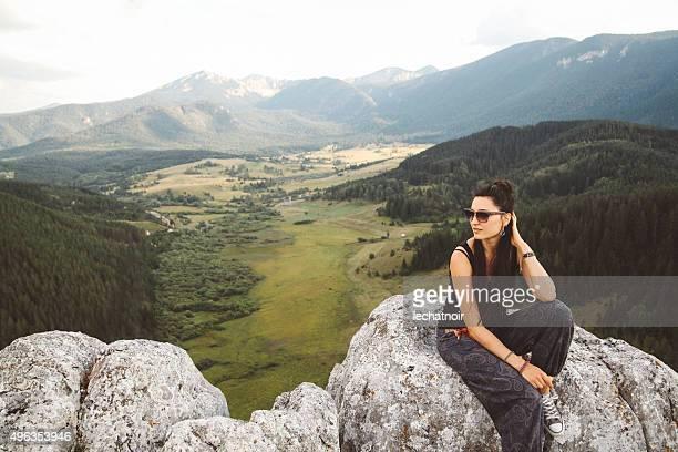 On the mountain peak