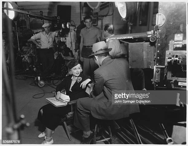 On the movie set of the 1935 film The Man Who Broke the Bank at Monte Carlo