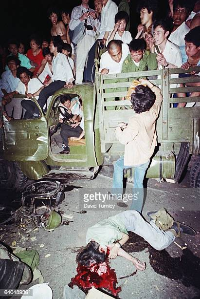 On the night of June 3rd and into June 4th soldiers from the People's Liberation Army with orders to clear Tiananmen Square fired on Beijing citizens...